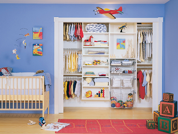 California Closets Pasadena-Kids Closet Custom Storage