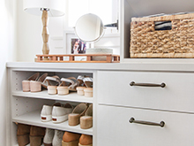California Closets Emily Henderson Client Story shoes and drawers