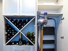 California Closets Emma Beaty Client Story Pantry wine and vacuum