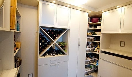 California Closets Emma Beaty Client Story Pantry full pantry with cookware