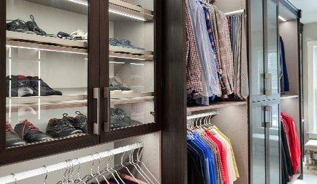 California Closets Michelle Mangini Client Story Mens Shoes and Shirts