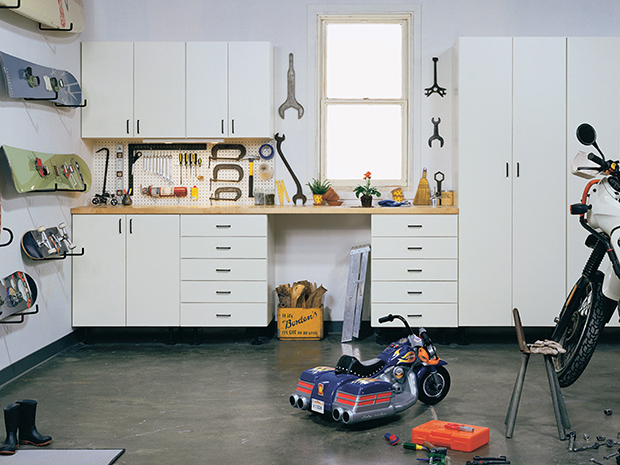 California Closets Pasadena-Garage Custom Workbench with Storage