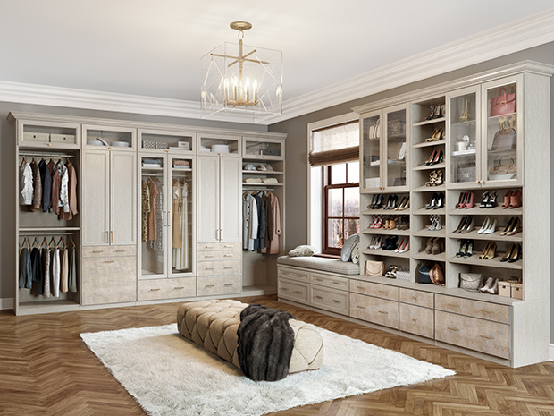 California Closets St. Louis - Walk-In Closet Shoe Storage