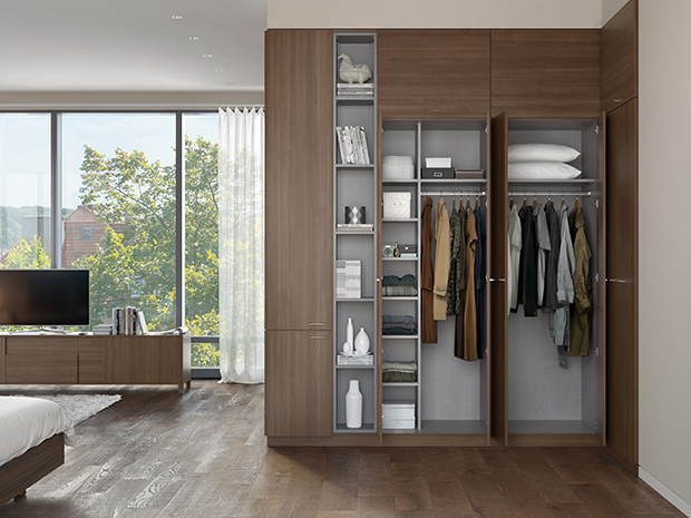California Closets Columbus - Custom Reach-In Closet System