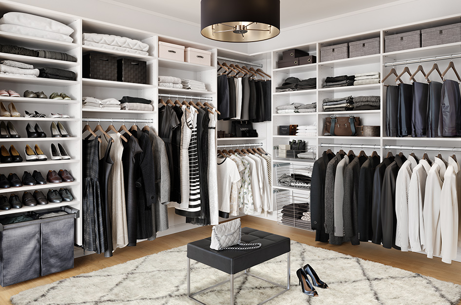 Hamlin bedroom walk in closet by California Closets