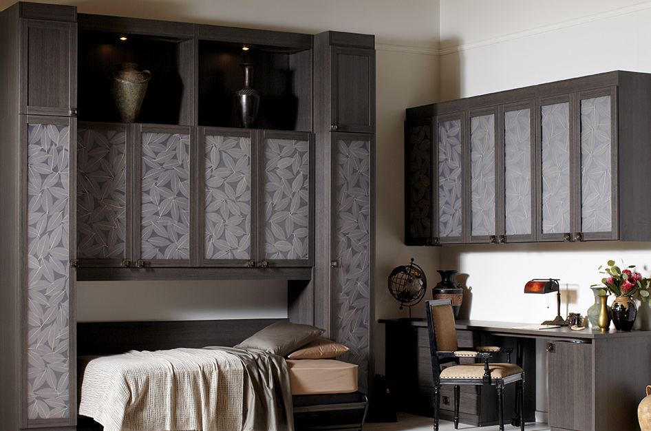 Simon Convertible Murphy Bed, pulled out, with Lago Milano Grey Finish