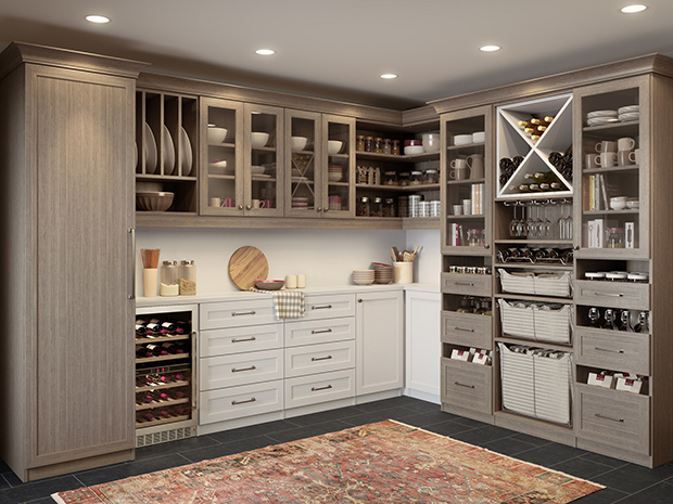 California Closets Baton Rouge - Custom Pantry Storage System