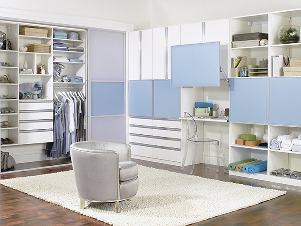 California Closets Bluffton - Custom Reach-In Closet Unit