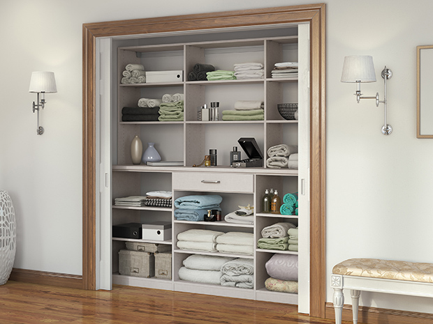 California Closets Delavare & Eastern Shore - Linen Closet Storage