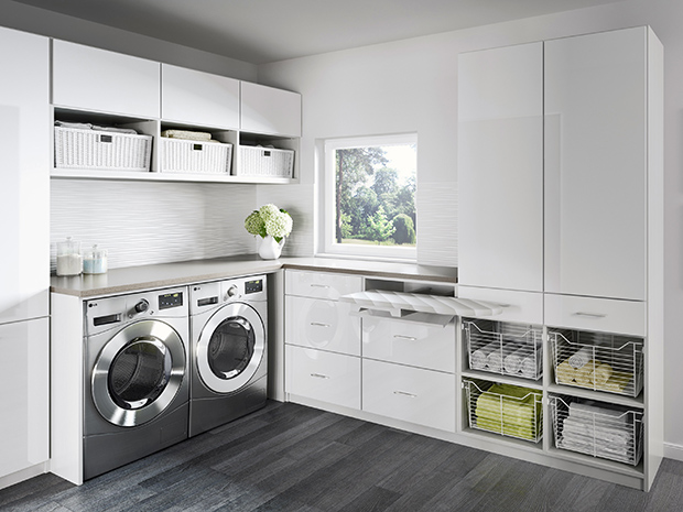 California Closets Dallas - Laundry Room Storage