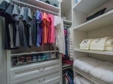 Melissa Maeker Commercial Client Story Walk in Closet with Stainless Hardware