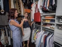 Melissa Maeker Commercial Client Story California Closets Organized Walk in Closet in Light Finish