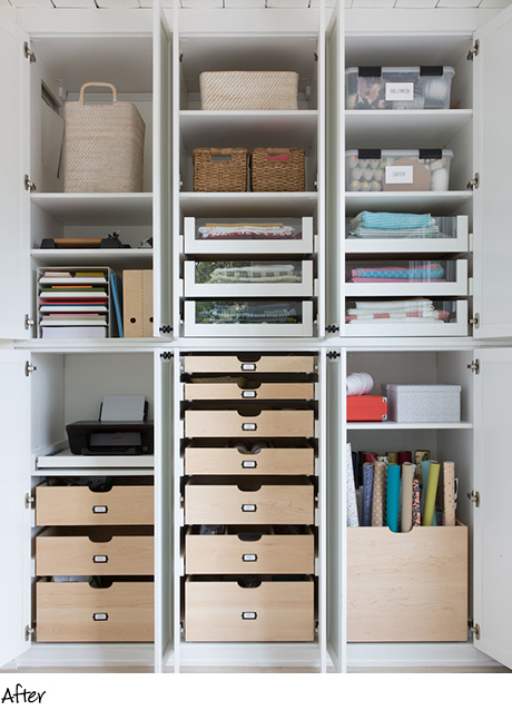California Closets Client Stories Molly Cover Organized Craft Storage in White Finish