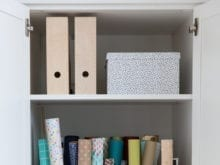 Camille Styles Craft Room Paper and Storage Organization