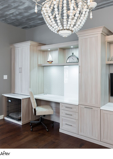 Lyn Bradbury Client Story After the Redesign with light beige finish and metal hardware