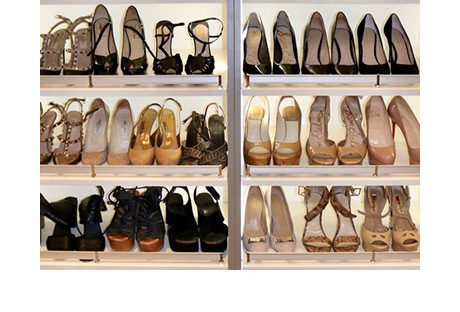 Client Story Shoe Organization in White Finish