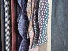 Davis Client Story Bow Tie and Tie Rack Closeup of Fabrics