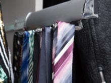 Gurjeet Sangha Client Story Close up of Tie Rack in Metal Finish