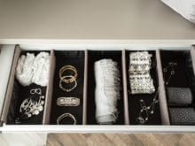 Jodie Parr Client Story Jewelry Storage in Drawer with Divided Receptacles