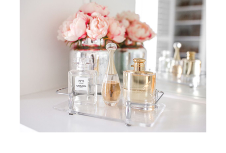 Perfume and Fragrance Holder in Clear Finish