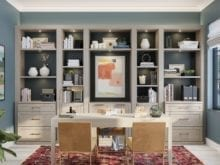 Brooks Home Office in Albero Natural Finish with Copper Hardware