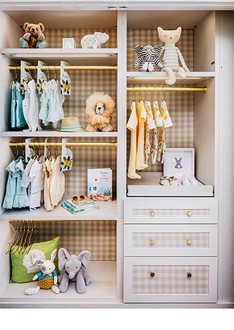 California Closets Dina Bandman Client Story Close Up of Kids Storage Solution