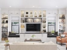 Millstone Great Room in Dakota Washed White Finish with Black Hardware