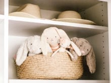 Client Story Samantha Wennerstrom California Closets Hats and Toys in Classic White Cubbies