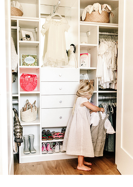 Client Story Samanatha Wennerstrom New Classic White Closet Being Used by Child