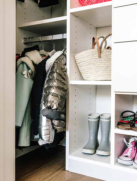 Client Story Samantha Wennerstrom Boots and Shoes in White Closet