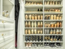 Shoe fences in the optimized closet of Fashion Blogger Vanessa Kormbeen - California Closets Charlotte