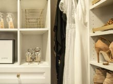 Shelving in the optimized closet of Fashion Blogger Vanessa Kormbeen - California Closets Charlotte