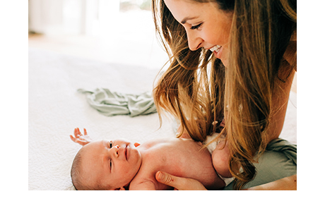 California Closets client Emily Nolan with baby Oliver
