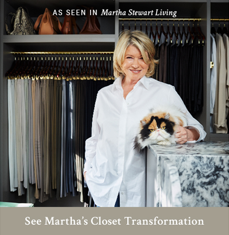 Martha's California Closets Transformation As Seen in Martha Stewart Living