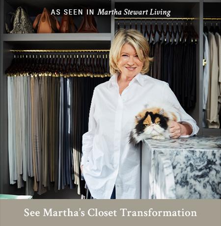Martha's California Closets Transformation As Seen in Martha Stewart Living