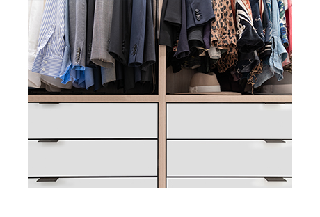 Mocha colored cabinet with white drawer fronts for beauty guru Jaime Rosen 2