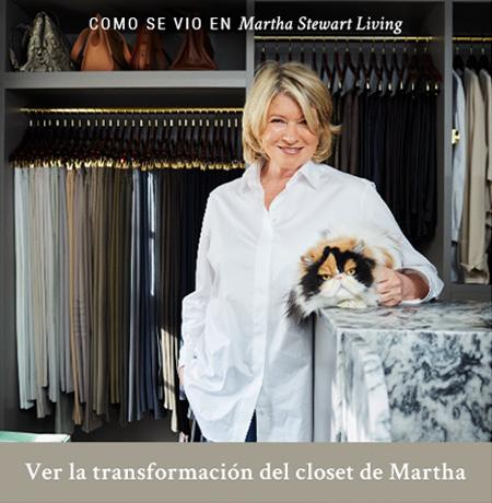 Ver la tranformación del closet de Martha Steward se vido en Martha Steward Living