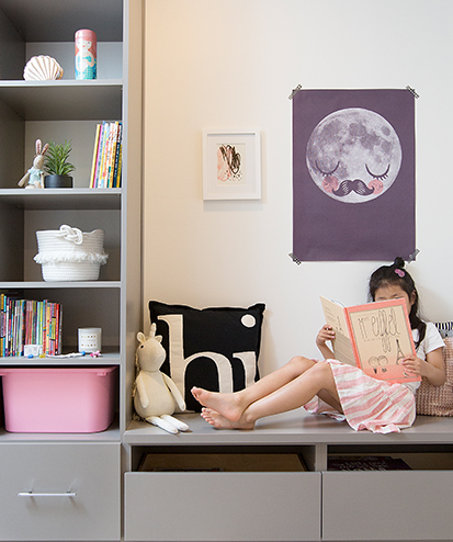 California Closets client Jeanne Chan - bench