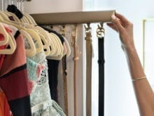Belt hooks in Kristen Lawler's custom closet